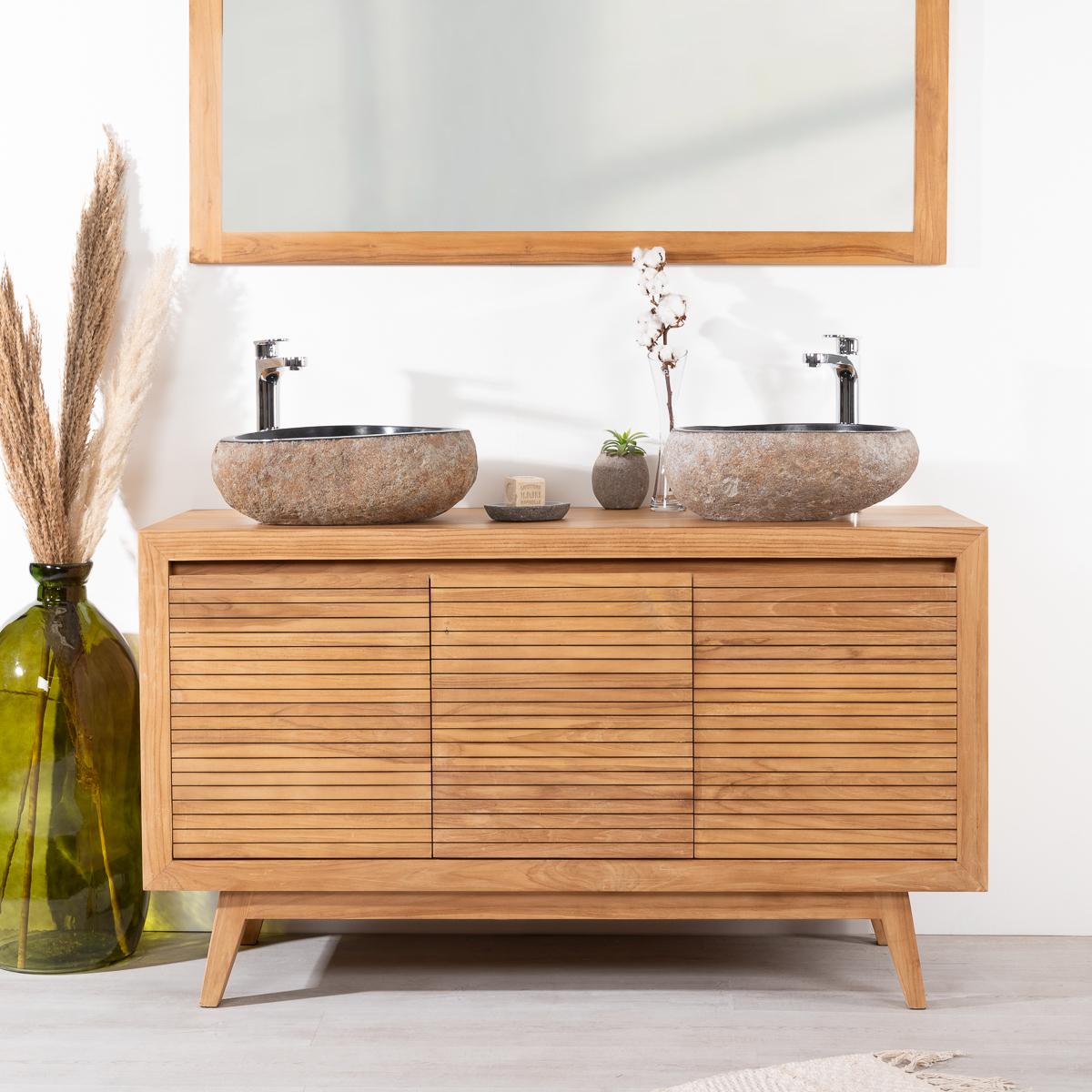 Meuble Salle De Bain Design Contemporain meuble salle de bain en teck vintage 140