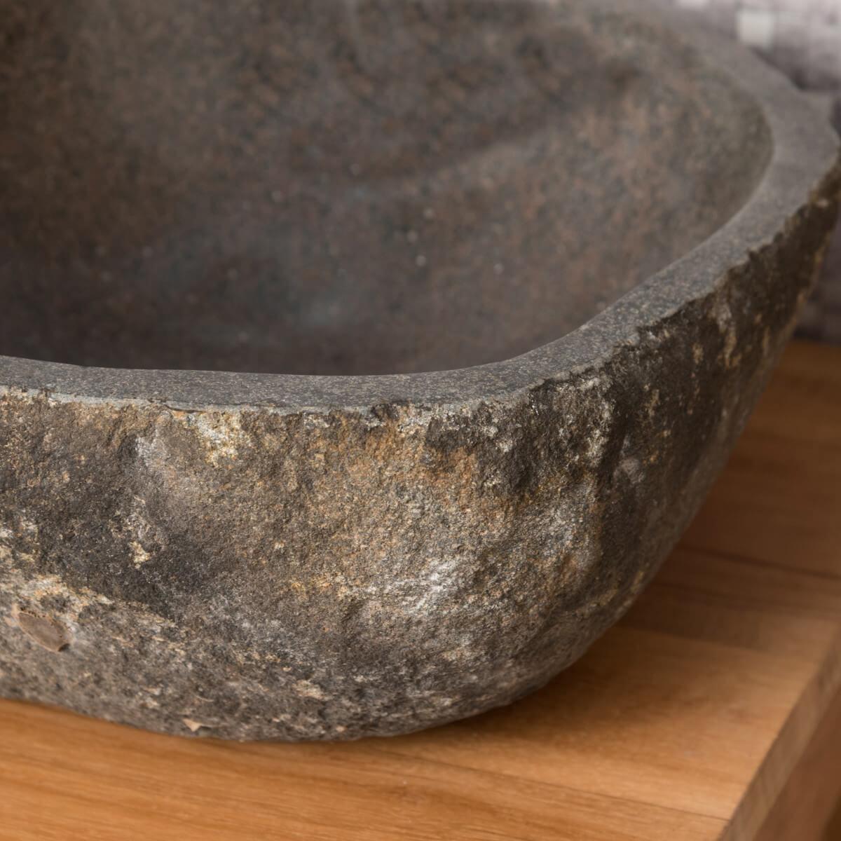 Vasque à poser en pierre naturelle salle de bain GALET 20 cm
