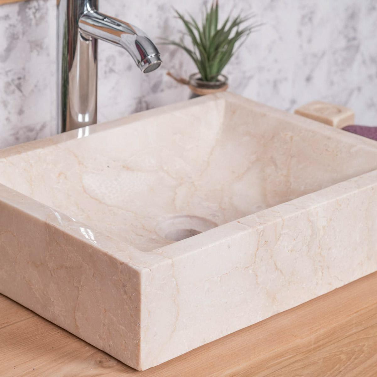 Etagere Pour Vasque A Poser vasque salle de bain à poser alexandrie rectangle 30cm x 40cm crème